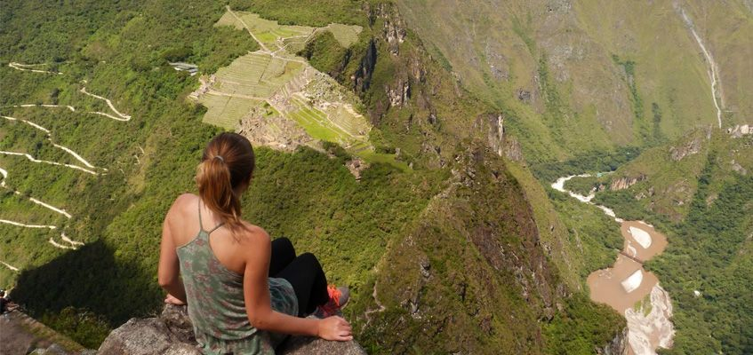 Looking down on Machu Picchu from Huayna Picchu